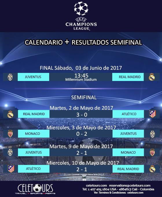 Calendario Uefa Europa League.Calendario Final Resultado Semifinal Uefa Champions League