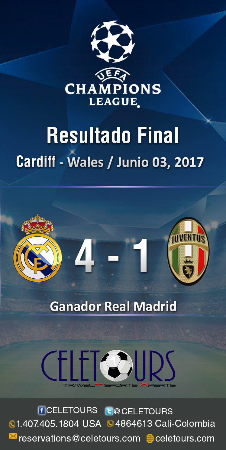Resultados Final 2017 - junio 03 de la champions League