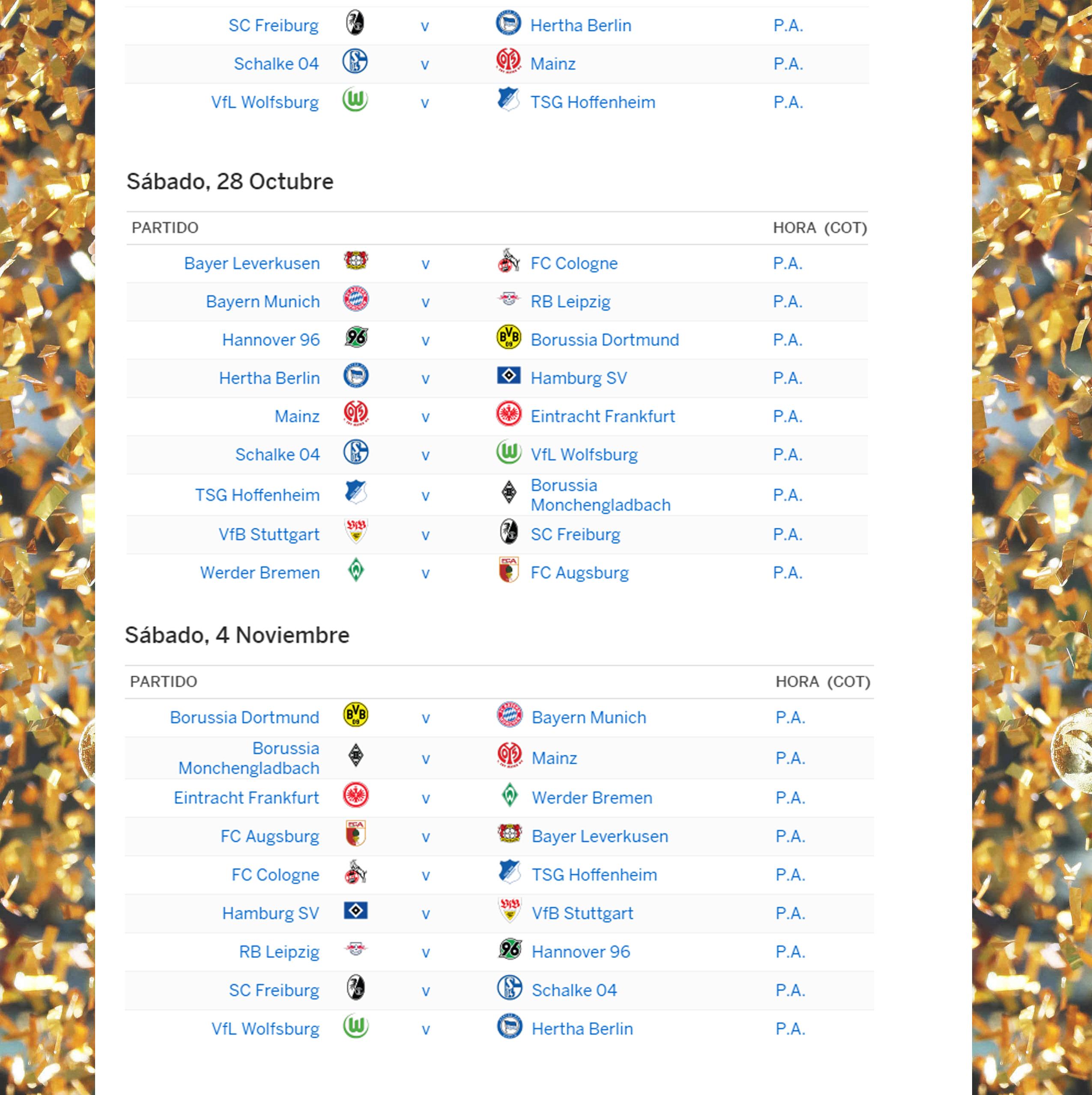 Bundesliga Calendario.Calendario De Bundesliga 2 Celetours